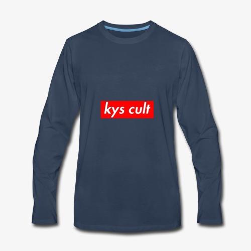 kys cult red - Men's Premium Long Sleeve T-Shirt