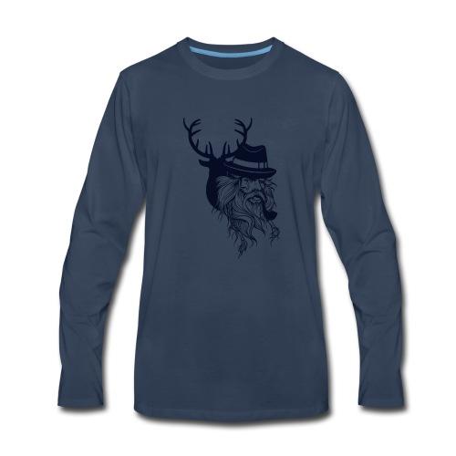 Santa's Reindeer - Men's Premium Long Sleeve T-Shirt