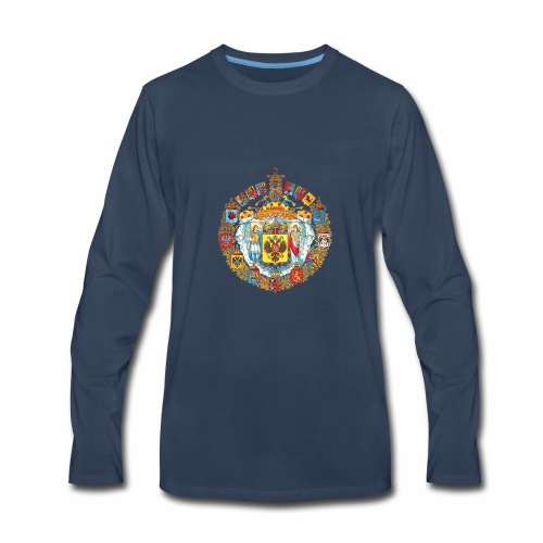 800px Greater coat of arms of the Russian empire - Men's Premium Long Sleeve T-Shirt
