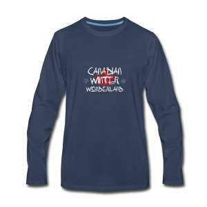Canadian Winter Wonderland - Men's Premium Long Sleeve T-Shirt