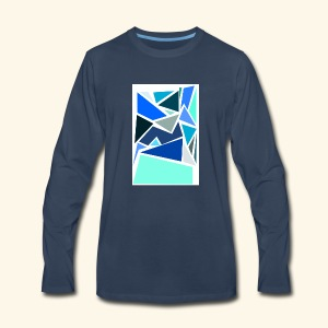 Funky Triangles - Men's Premium Long Sleeve T-Shirt