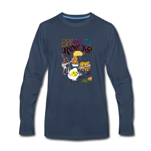 Breakfast Rocks! - Men's Premium Long Sleeve T-Shirt