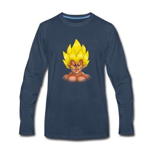 vegeta front majin boo - Men's Premium Long Sleeve T-Shirt