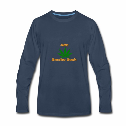 420 Smoke Sesh - Men's Premium Long Sleeve T-Shirt