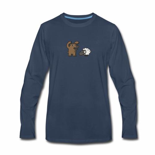 Barr and Sheep funny tshirt - Men's Premium Long Sleeve T-Shirt