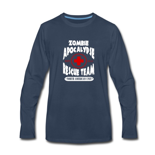 Zombie Apocalypse Rescue Team - Men's Premium Long Sleeve T-Shirt
