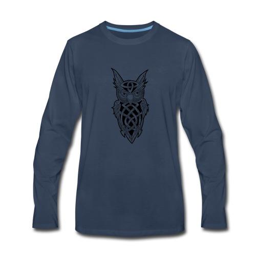Owl T-Shirt - Men's Premium Long Sleeve T-Shirt