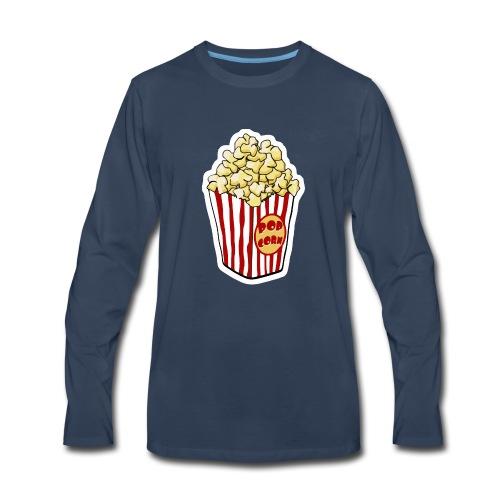 Popcorn Cartoon Pop Corn - Men's Premium Long Sleeve T-Shirt