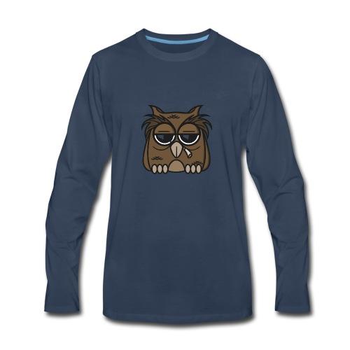 Smoking Owl - Men's Premium Long Sleeve T-Shirt
