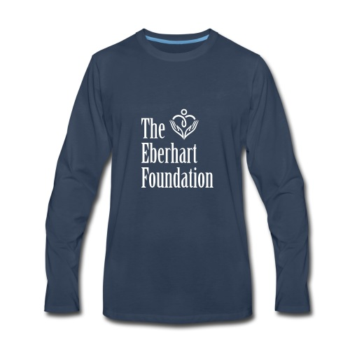 The Eberhart Foundation square logo white - Men's Premium Long Sleeve T-Shirt