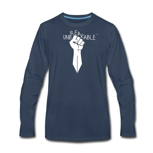 UNBREAKABLE_-TM-wht- - Men's Premium Long Sleeve T-Shirt
