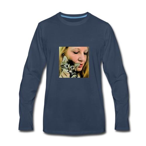 Beautiful kitten... - Men's Premium Long Sleeve T-Shirt