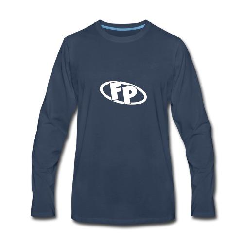 Secondary FRESHPOPCORN Logo - Men's Premium Long Sleeve T-Shirt