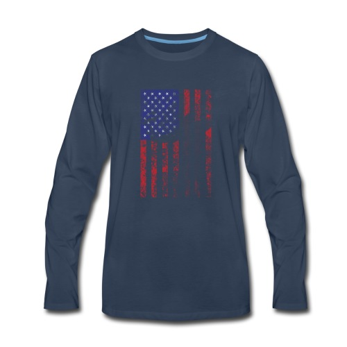 bow flag seperated2 - Men's Premium Long Sleeve T-Shirt