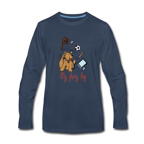 MY CUTE FURRY DOG PERFECT GIFT - Men's Premium Long Sleeve T-Shirt