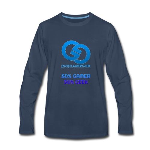 GamerGeeks Logo And Slogan - Men's Premium Long Sleeve T-Shirt