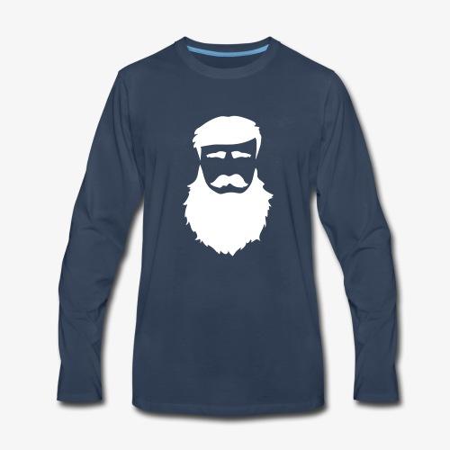 PoM Logo Horizontal V2 REVERSE - Men's Premium Long Sleeve T-Shirt