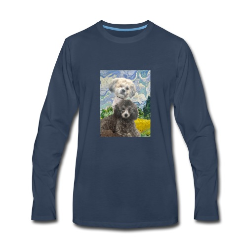 Morty and Wonton - Dogs of Modern Art - Men's Premium Long Sleeve T-Shirt