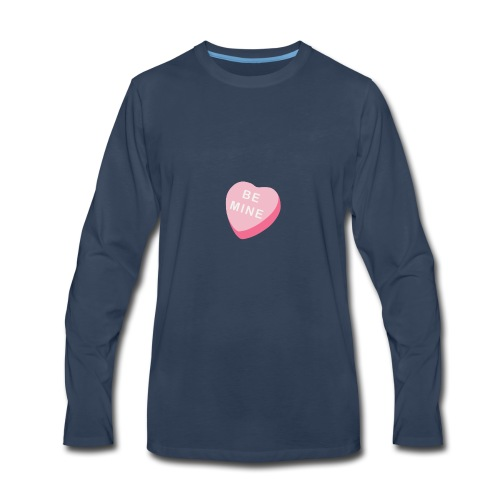 Be Mine Heart Valentine's Day 2018 - Men's Premium Long Sleeve T-Shirt