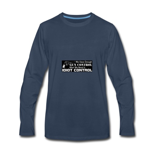 gun control - Men's Premium Long Sleeve T-Shirt