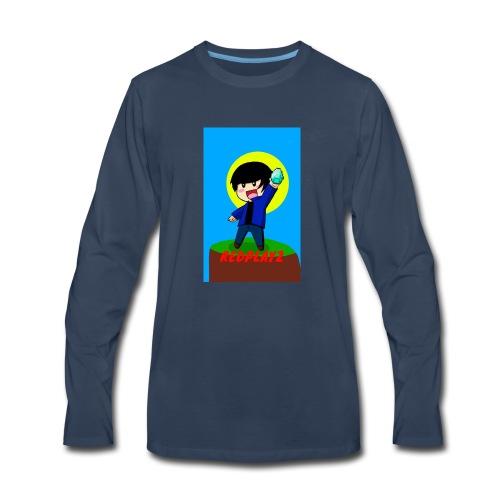 BLUE REDPLAYZ T-SHIRT ORIGINAL DESIGN - Men's Premium Long Sleeve T-Shirt