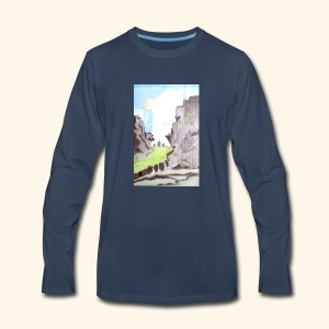 LANDSCAPE MULTI COLOUR - Men's Premium Long Sleeve T-Shirt