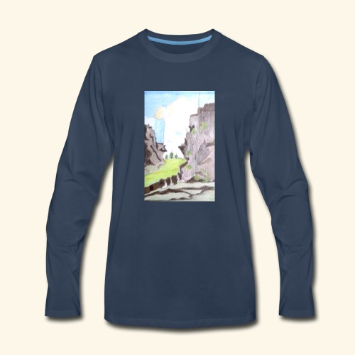 LANDSCAPE MULTI COLOUR - Men's Premium Long Sleeve T-Shirt