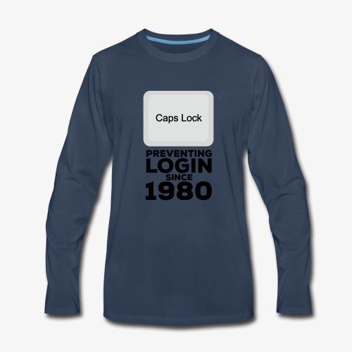 Caps Lock - Men's Premium Long Sleeve T-Shirt