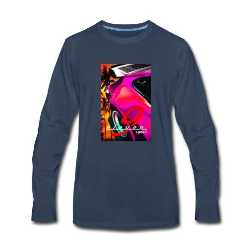 911 Car T-Shirt Whale Tail Sports Design Pink - Men's Premium Long Sleeve T-Shirt