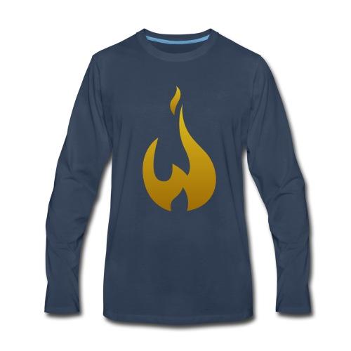 W Logo Gold - Men's Premium Long Sleeve T-Shirt