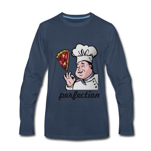 i love pizza, just perfect - Men's Premium Long Sleeve T-Shirt