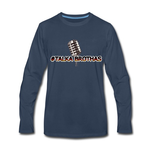 Talka Brothas Mic-Check - Men's Premium Long Sleeve T-Shirt