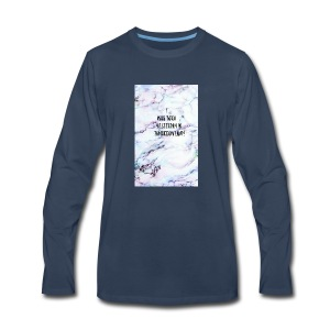 Quote- i was born yesterday in tomorrow land - Men's Premium Long Sleeve T-Shirt