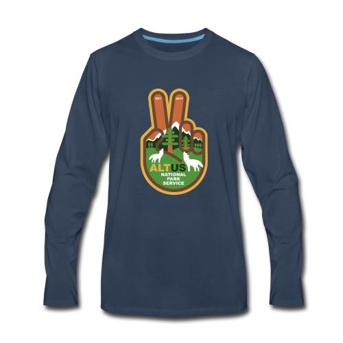 ALT US National Park Service - Peace - Men's Premium Long Sleeve T-Shirt