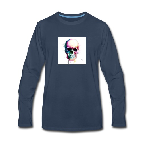 Colourful skull - Men's Premium Long Sleeve T-Shirt