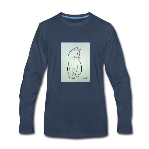 9ee232d2cb0d509fa6191e9fe868e6ec this a cat design - Men's Premium Long Sleeve T-Shirt