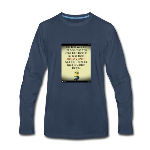 22312eac233ad515db9f8003c494f795 chef funny minio - Men's Premium Long Sleeve T-Shirt