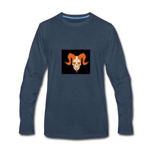 Horror Bull Logo - Men's Premium Long Sleeve T-Shirt