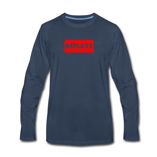 AEplayZ shirt logo - Men's Premium Long Sleeve T-Shirt