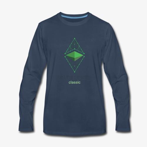 Ethereum Classic Logo - Men's Premium Long Sleeve T-Shirt