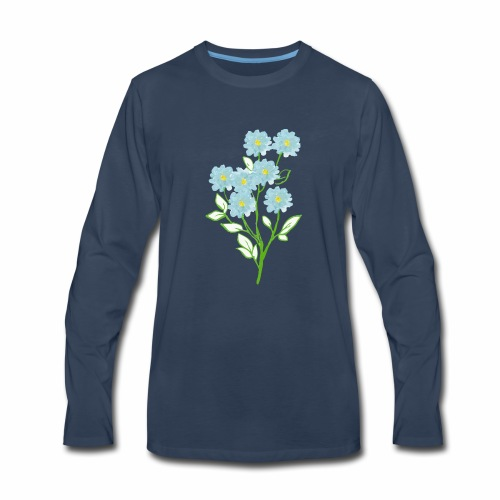 blue flower - Men's Premium Long Sleeve T-Shirt