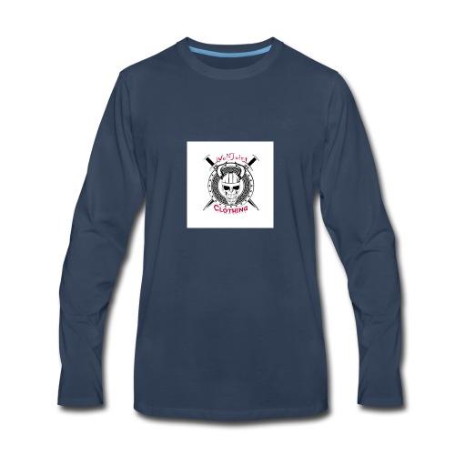 Skull sheild - Men's Premium Long Sleeve T-Shirt