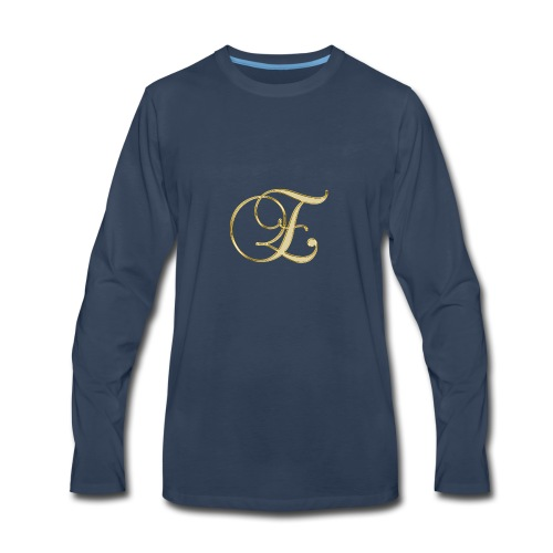 e golden logo - Men's Premium Long Sleeve T-Shirt