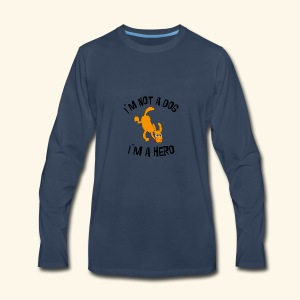funny dog - Men's Premium Long Sleeve T-Shirt