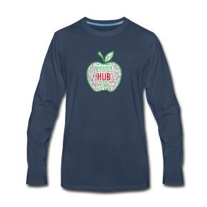 WholisticHub Apple - Men's Premium Long Sleeve T-Shirt