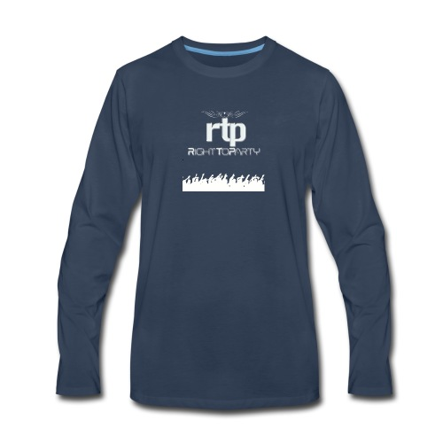 RTP Crowd LOGO White - Men's Premium Long Sleeve T-Shirt
