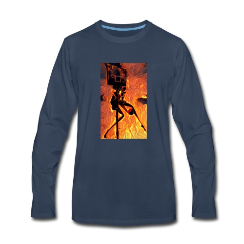 Fire Basketball Player - Men's Premium Long Sleeve T-Shirt