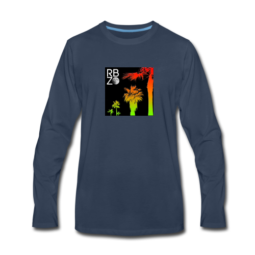 rbz south florida palm trees - Men's Premium Long Sleeve T-Shirt