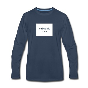 1 Timothy Chapter 2:1-5 - Men's Premium Long Sleeve T-Shirt