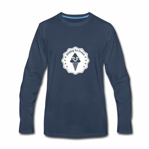 Smiling Ice Cream Batch - Men's Premium Long Sleeve T-Shirt